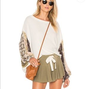 Free People blossom thermal bell sleeve NWT